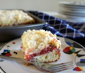 rhubarb coffee cake Recipe