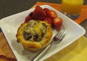 Sausage and Egg Biscuit Cups