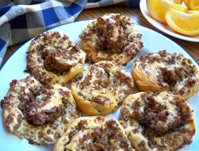 Sausage Pin Wheels Recipe