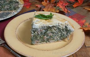 Sausage and Spinach Pie Recipe