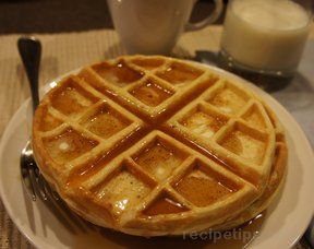 Almond Flavored Waffles Recipe