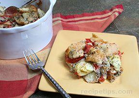 Artichoke Tomato Casserole