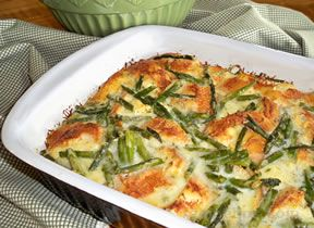 asparagus and cheese bread pudding Recipe