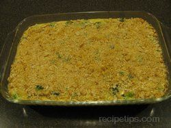 Broccoli Cauliflower and Rice Casserole