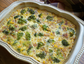 Broccoli Scalloped Corn Casserole