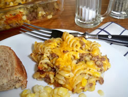 busy day hamburger casserole Recipe