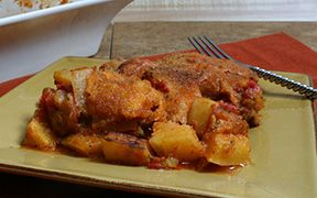 Butternut Squash Sweet Potato and Tomato Cheese Bake Recipe