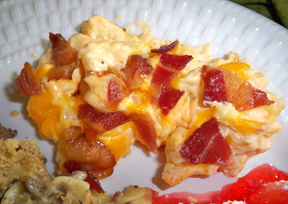 cauliflower casserole with bacon topping Recipe