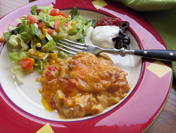 Cheesy Mexican Chicken Casserole