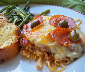 Cheesy Pizza HotdishnbspRecipe
