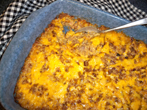 Cheesy Sausage and Rice Casserole
