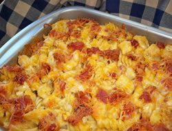 Chicken and Bacon Pasta Hot Dish
