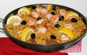 chicken shrimp and sausage paella Recipe