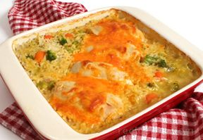 chicken rice and vegetable casserole Recipe