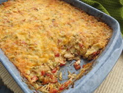 creamy chicken tortilla bake Recipe
