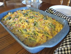 Creamy Ham and Noodle Casserole Recipe