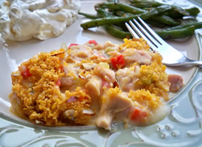 creamy red pepper chicken casserole Recipe