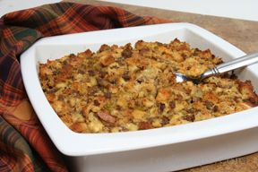 basic bread and sausage dressing Recipe