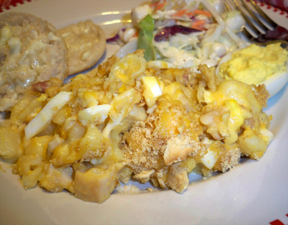 Easy Chicken and Egg Casserole