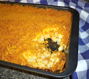 hash brown casserole with crispy topping Recipe
