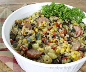 Turkey Kielbasa and Vegetable Casserole
