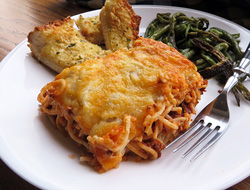 Layered Spaghetti Casserole Recipe