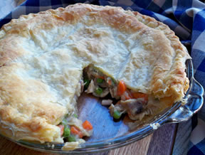 Leftover Turkey  Gravy Pot Pie Recipe