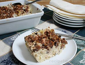 Orange Currant and Noodle Kugel
