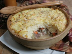 Parsnip Topped Shepherd's Pie Recipe - RecipeTips.com