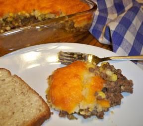 Shepherds Pie with Cheese Topping