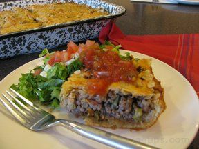 Taco Casserole with Ground Beef