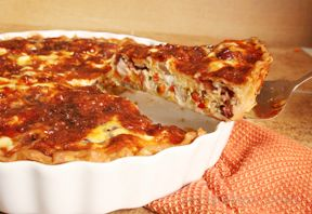 Turkey Sweet Potato and Cranberry Quiche