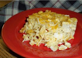 Turkey Tetrazzini with Mushrooms Recipe