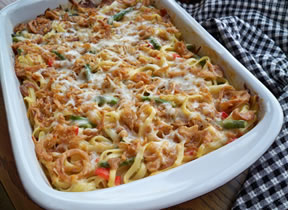 Vegetable Fettuccine Casserole Recipe