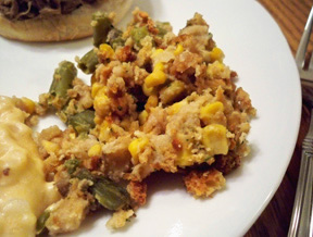 vegetable stuffing casserole Recipe