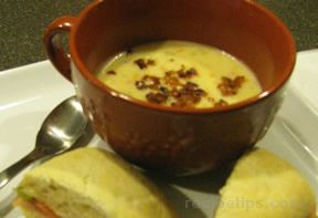 Baked Potato Soup with Bacon Recipe