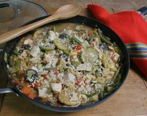 Chicken Minestrone with Orzo
