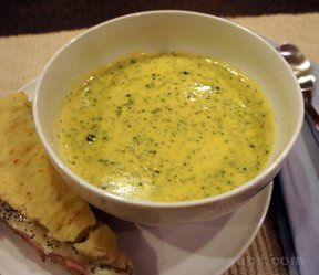 cheesy cream of broccoli soup Recipe