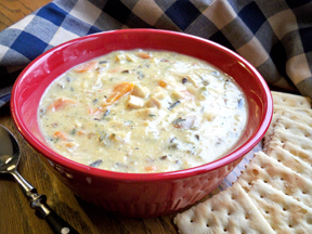 Easy Creamy Chicken Wild Rice Soup