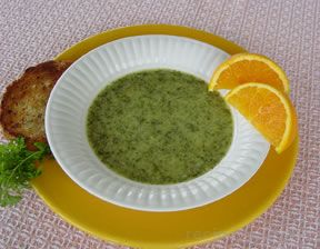 garden cress soup ã¡ la orange Recipe