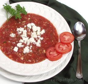 Gazpacho  with Feta Cheese