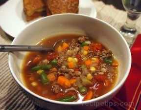 simple hamburger vegetable soup Recipe