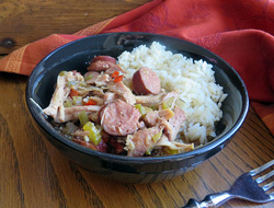 hearty chicken and sausage gumbo Recipe