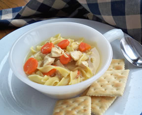 home cooked chicken noodle soup Recipe
