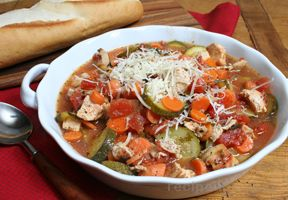 Grilled Italian Chicken and Vegetable Soup Recipe