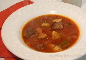 Old Fashioned Vegetable Beef Soup Recipe