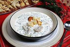 Oyster Stew with Rosemary Croutons