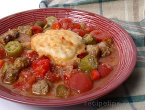 spicy gumbo and biscuits Recipe