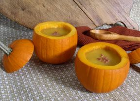 Creamy Squash Soup in a Pumpkin