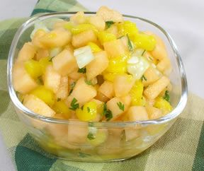 cantaloupe and mango salsa Recipe